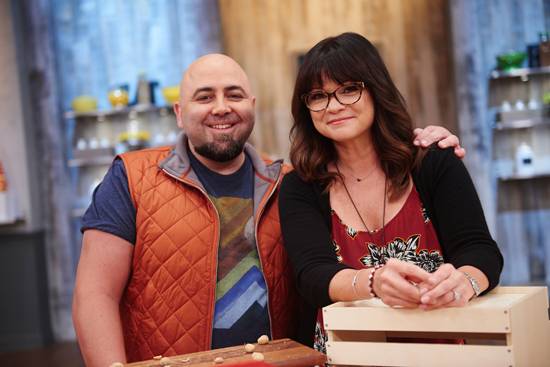 Host Duff Goldman and Valerie Bertinelli on Food Network's `Kids Baking Championship.` (Food Network photo)