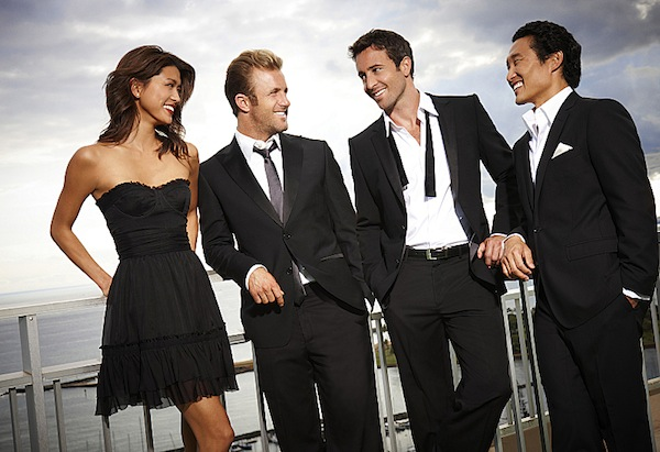 `Hawaii Five-0`: Grace Park, Scott Caan, Alex O'Loughlin, and Daniel Dae Kim. (CBS photo by Art Streiber)