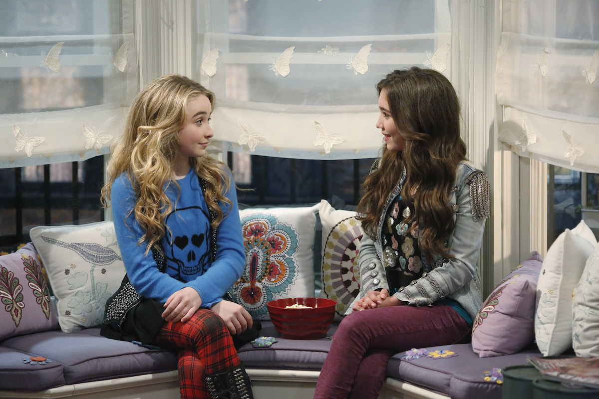 `Girl Meets World`: Sabrina Carpenter as Maya and Rowan Blanchard as Riley. (Disney Channel photo by Kelsey McNeal)