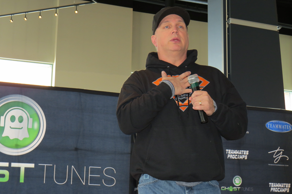Garth Brooks addresses this writer and members of the media Thursday at First Niagara Center in downtown Buffalo.