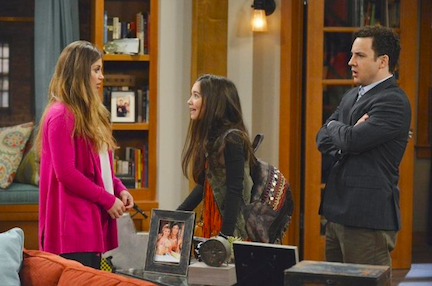 `Girl Meets World`: A new generation of fans will meet Cory and Toganga - and their daughter, Riley. Pictured, from left, are stars Danielle Fishel, Rowan Blanchard and Ben Savage. (Disney Channel photo by Eric McCandless)