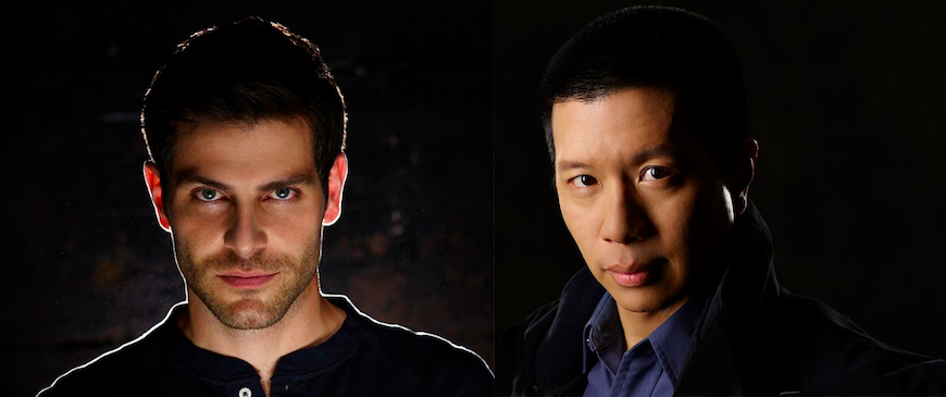 `Grimm`: David Giuntoli stars as Nick Burkhardt, and Reggie Lee stars as Sgt. Drew Wu. (NBC photos by Chris Haston)