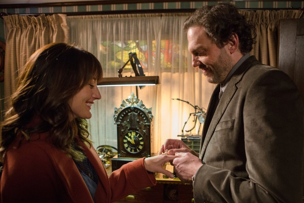 `Grimm`: Pictured are Bree Turner as Rosalee Calvert and Silas Weir Mitchell as Monroe. (NBC photo by Scott Green)