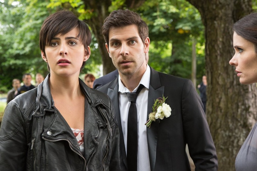 `Grimm`: Pictured, from left, Jacqueline Toboni as Trubel, David Giuntoli as Nick Burkhardt and Bitsie Tulloch as Juliette Silverton. (NBC photo by Scott Green)