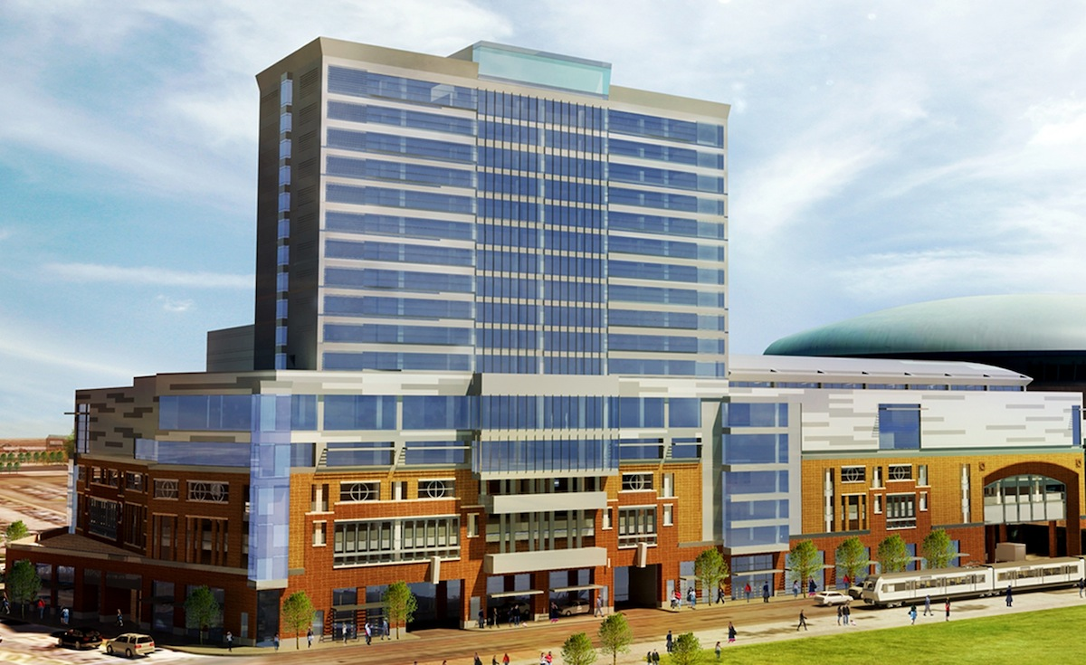 An artist's rendering of HARBORcenter.