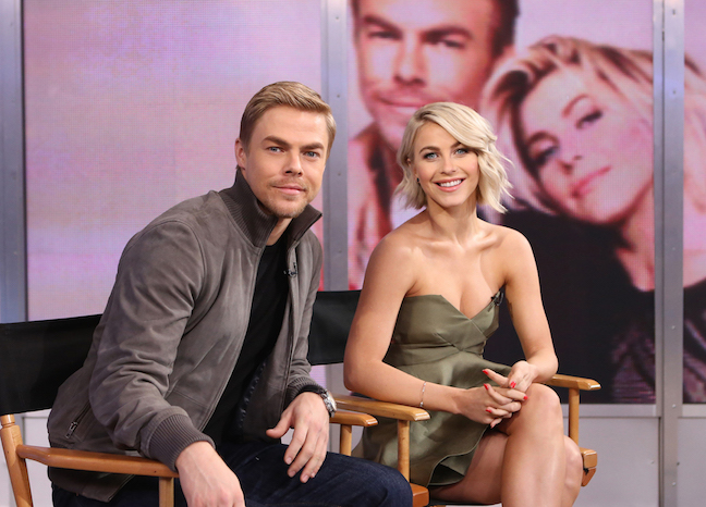 `Good Morning America`: Derek and Julianne Hough were guests on this morning's show. (ABC photo by Fred Lee)