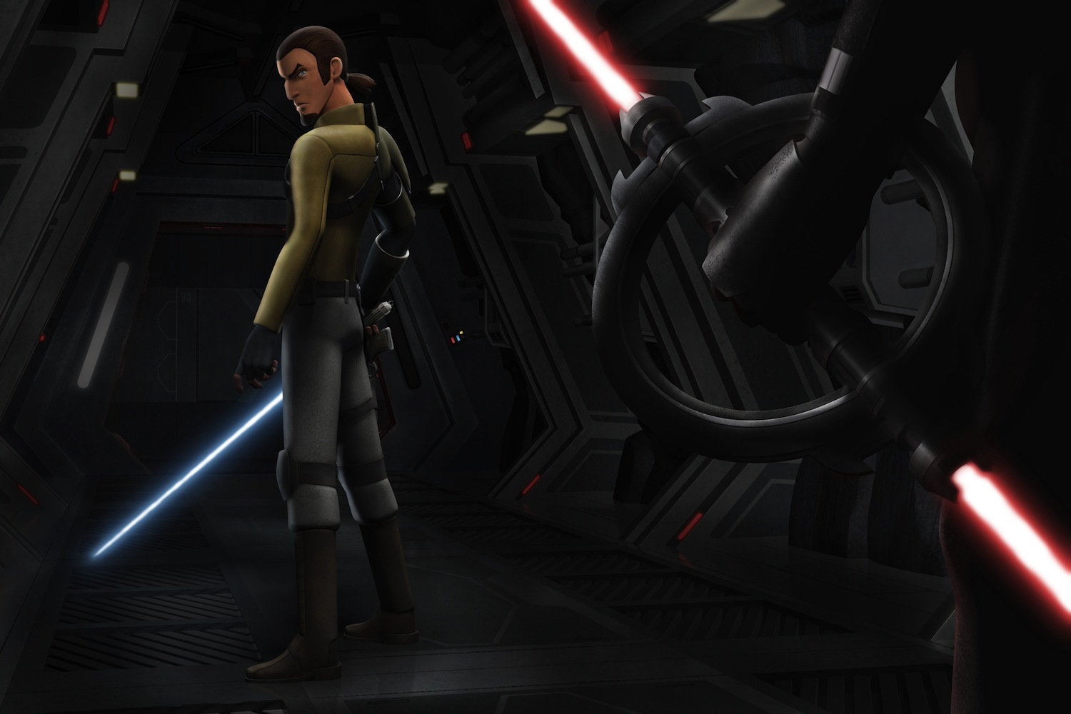`Star Wars Rebels`: Kanan encounters the Inquisitor. `Star Wars Rebels` is scheduled to premiere this fall as a one-hour special telecast on Disney Channel. (Lucas Film/Disney photo)