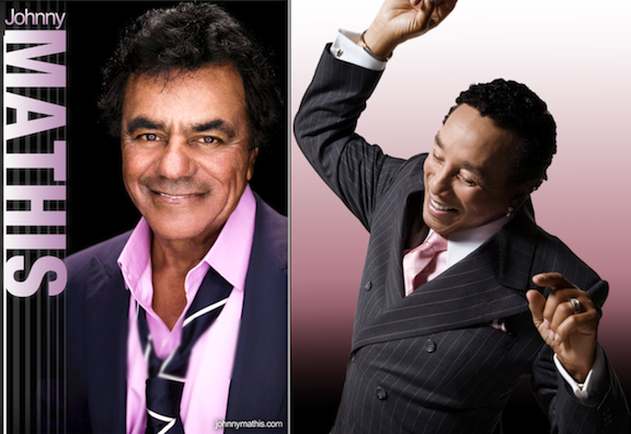 Johnny Mathis and Smokey Robinson
