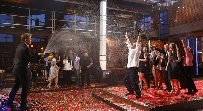`MasterChef`: Luca is crowned winner in the season finale on FOX. (FOX photo by Greg Gayne)