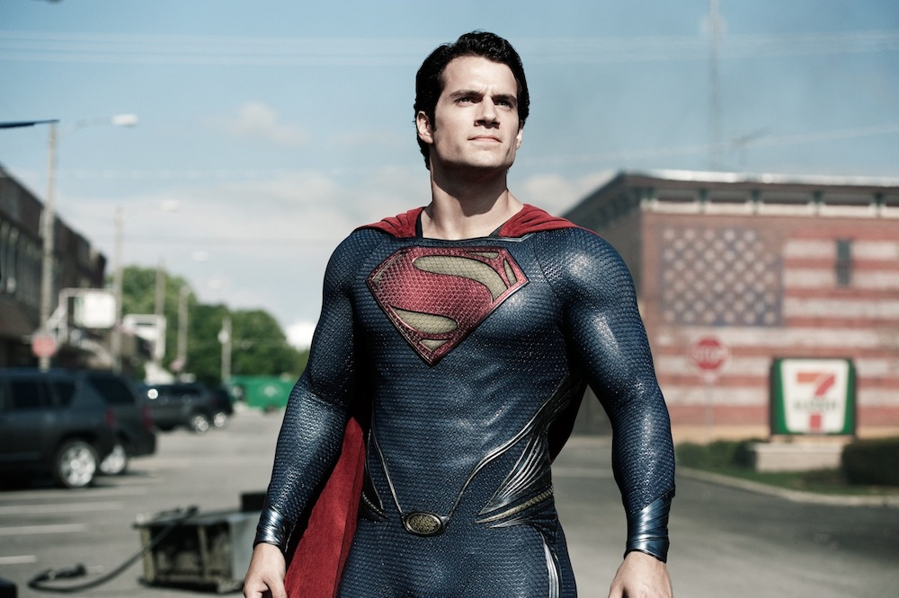 Henry Cavill as Superman in Warner Bros. Pictures' and Legendary Pictures' action adventure `Man of Steel,` a Warner Bros. Pictures release. (photo by Clay Enos; TM and © DC Comics)