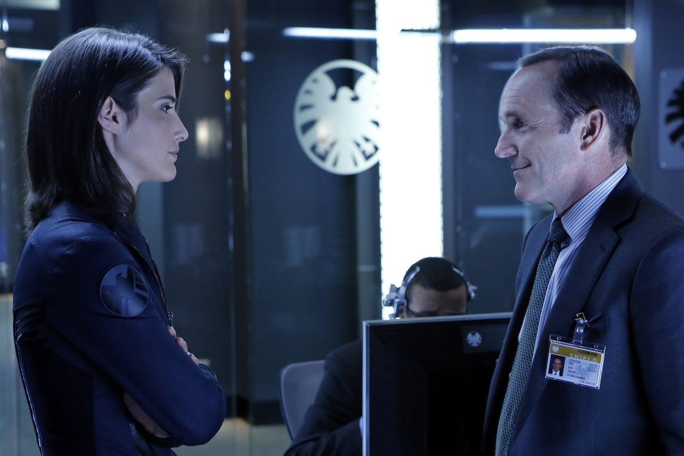 `Marvel's Agents of S.H.I.E.L.D.`: Colbie Smulders (Agent Maria Hill) and Clark Gregg (Agent Phil Coulson) in the pilot episode. (ABC photo by Justin Lubin)