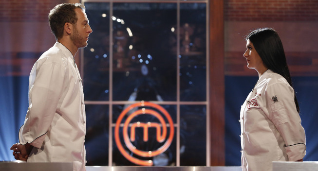 `MasterChef`: Contestants Luca and Natasha square off on the season finale, airing Wednesday, Sept. 11, (9 p.m.), on FOX. (FOX photo by Greg Gayne/©2013 FOX Broadcasting)