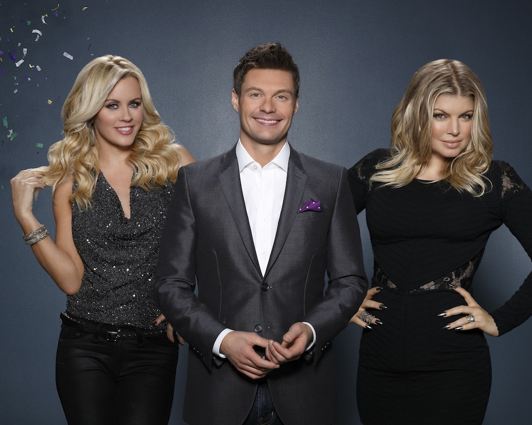 `Dick Clark's Primetime New Year's Rockin' Eve with Ryan Seacrest`: Ryan Seacrest spotlights some of the year's hottest artists, groups and songs. Fergie, right, hosts the Los Angeles party, and Jenny McCarthy is live with all the festivities in Times Square, airing Tuesday, Dec. 31, on ABC. (ABC photo by Bob D'Amico).