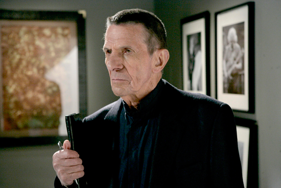 Leonard Nimoy's final television role was that of William Bell on the iconic FOX series `Fringe.` The series is available for purchase on Amazon. (FOX photo by Craig Blankenhorn)