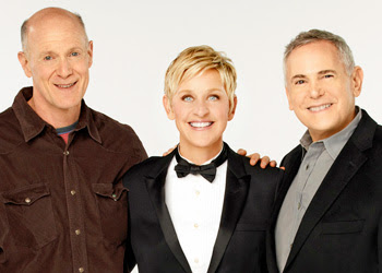 Craig Zadan, Ellen DeGeneres and Neil Meron. (ABC/AMPAS photo)