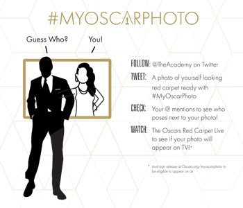 Fans who follow @TheAcademy and tweet a red carpet-ready photo of themselves using hashtag #MyOscarPhoto will be eligible to have their photo featured on the red carpet. (ABC/A.M.P.A.S. image)