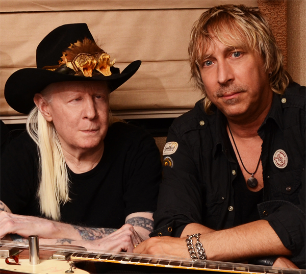 Johnny Winter and Paul Nelson.