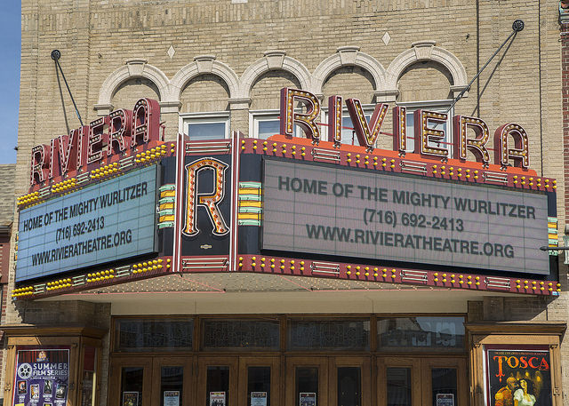 The Historic Riviera Theatre and Performing Arts Center at 67 Webster St., North Tonawanda.