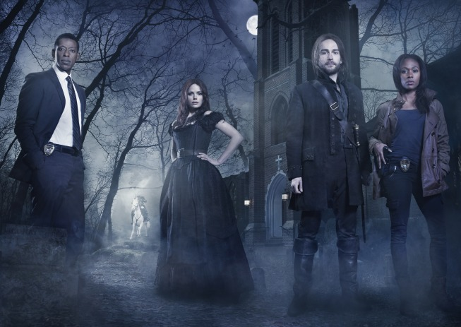 `Sleepy Hollow`: Pictured from left: Katia Winters, Tom Mison, Nicole Beharie and Orlando Jones. The new FOX drama premieres Monday, Sept. 16 (9 p.m.), on FOX. (FOX photo by Michael Lavine/©2013 Fox Broadcasting Co.)