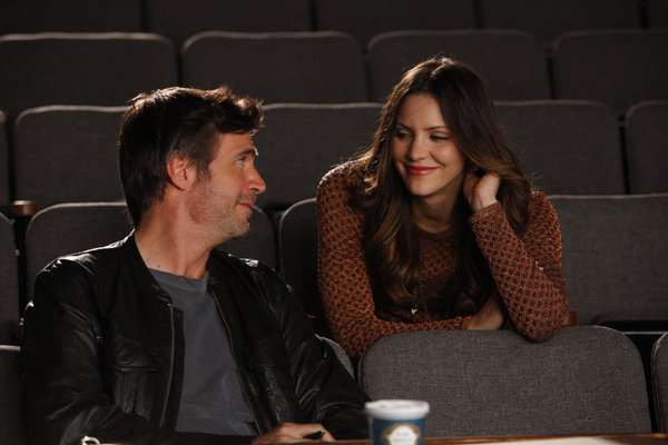 Jack Davenport as Derek Wills and Katharine McPhee as Karen Cartwright on `Smash.` (NBC photo by Will Hart)