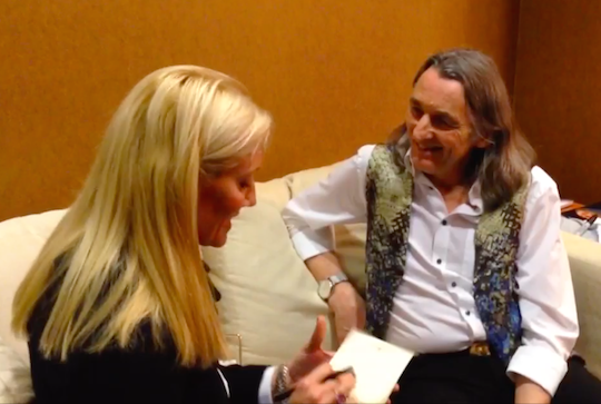 Sophia Smith with Roger Hodgson.