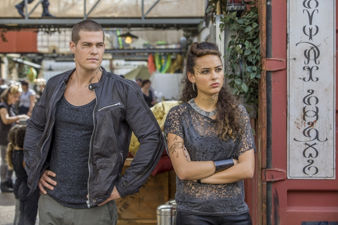 `Star-Crossed`: Pictured are Greg Finley as Drake and Chelsea Gilligan as Teri. (The CW photo by Skip Bolen)
