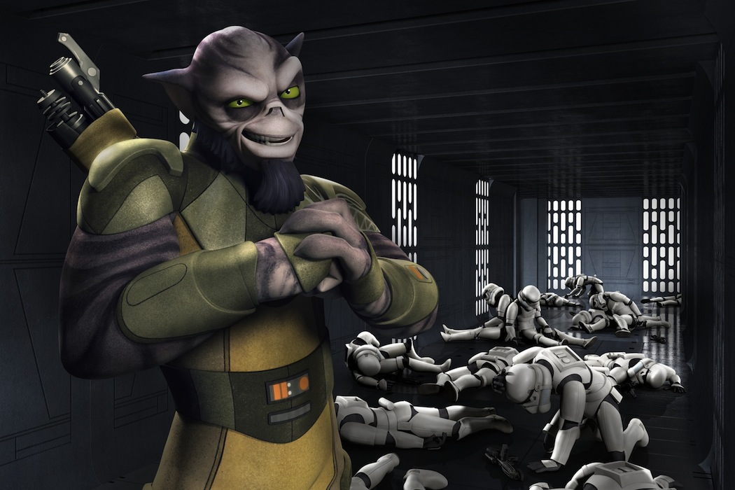 `Star Wars Rebels`: Meet Zeb, the muscle. `Star Wars Rebels` is scheduled to premiere this fall as a one-hour special telecast on Disney Channel, and will be followed by a series on Disney XD channels around the world. (Lucasfilm photo)