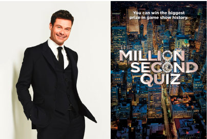 Ryan Seacrest will host `Million Second Quiz` this fall on NBC. (NBC photo by Timothy White/ courtesy of E! Entertainment Television/NBC logo)