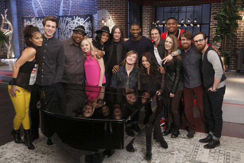 The Voice Meet Team Usher