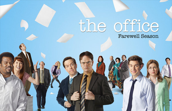 `The Office` season 9: Pictured, from left: Craig Robinson as Darryl Philbin, Ellie Kemper as Kelly Erin Hannon, Paul Lieberstein as Toby Flenderson, Brian Baumgartner as Kevin Malone, Angela Kinsey as Angela Martin, Ed Helms as Andy Bernard, Rainn Wilson as Dwight Schrute, Kate Flannery as Meredith Palmer, Creed Bratton as Creed, Phyllis Smith as Phyllis Lapin, David Baker as Stanley Hudson, John Krasinski as Jim Halpert, Jenna Fischer as Pam Halpert and Oscar Nunez as Oscar Martinez. (NBC photo by Chris Haston/NBC)