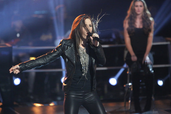 Kat Robichaud performs on `The Voice.` (NBC photo by Tyler Golden)