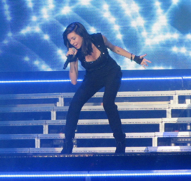 Christina Grimmie on stage in Niagara Falls in 2014.