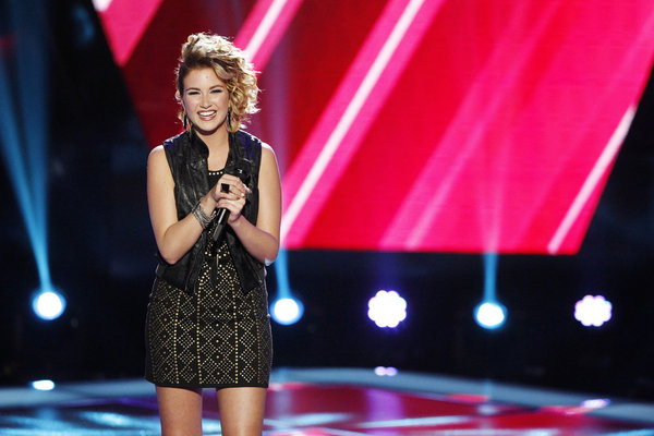 `The Voice`: Audrey Karrasch performs during the `Blind Auditions.` (NBC photo by Trae Patton)