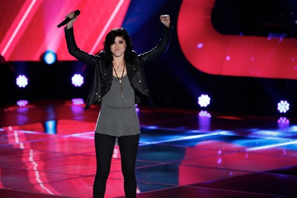 `The Voice`: Briana Cuoco performs at the blind auditions. (NBC photo by Tyler Golden)