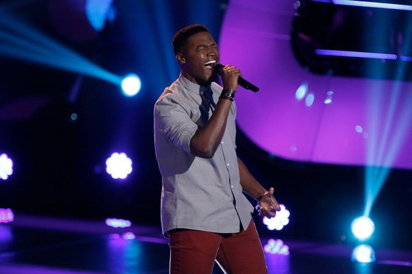 Matthew Schuler performs on `The Voice.` (NBC photo by Tyler Golden)