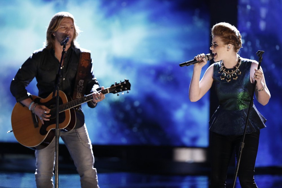 `The Voice`: Craig Wayne Boyd performs with Reagan James. (NBC photo by Tyler Golden/NBC)