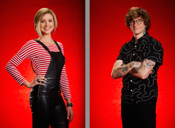 Beth Spangler and Matt McAndrew on `The Voice.` (NBC photos by Paul Drinkwater)