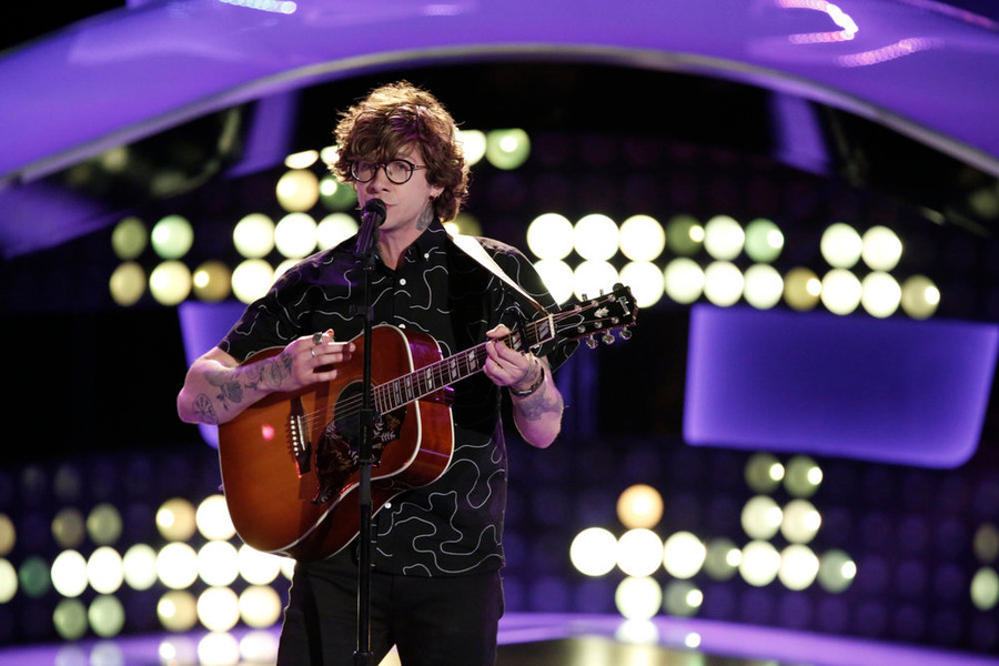 Matt McAndrew performs on