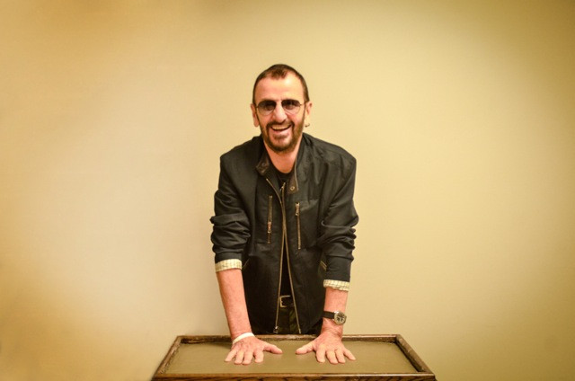 Ringo Starr contributed to the Turning Stone `Hands of Fame` exhibit.