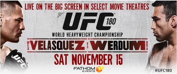 UFC 180: Velasquez vs. Werdum (image submitted with release)