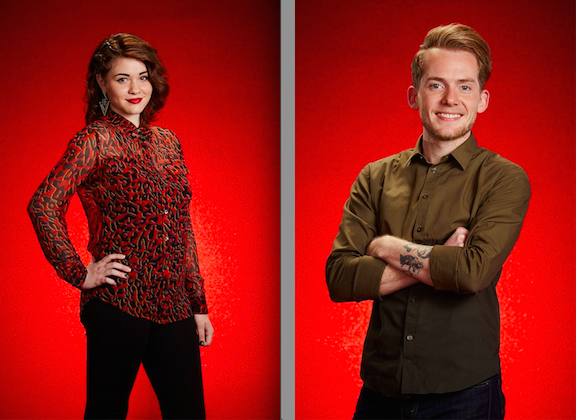 `The Voice`: Reagan James, left, and Taylor Phelan. (NBC photos by Paul Drinkwater/NBC)