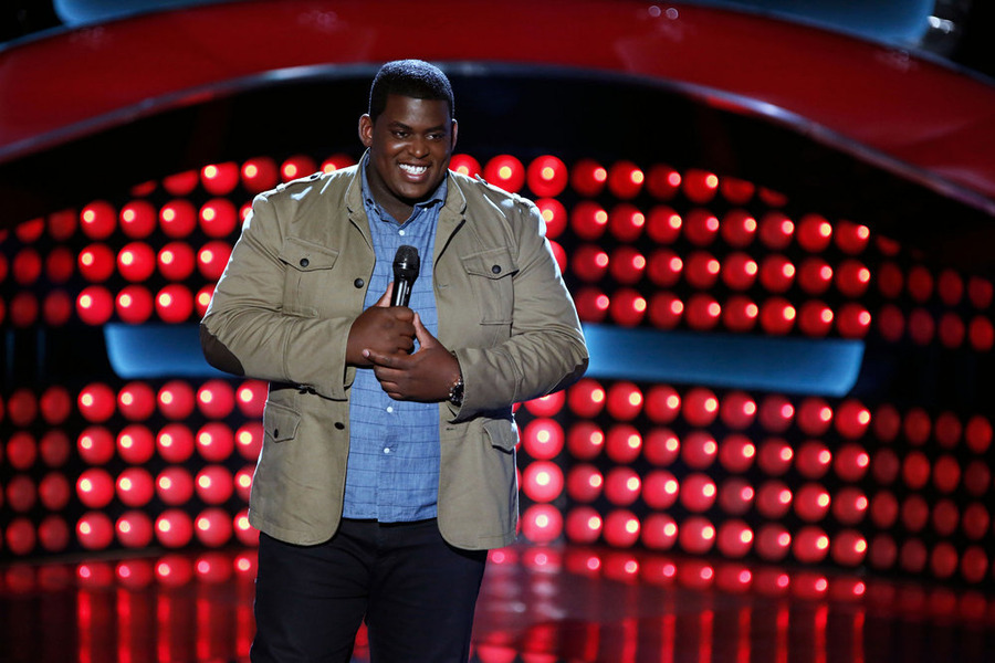 """The Voice"": Blaze Johnson auditions. (NBC photo by Tyler Golden)"