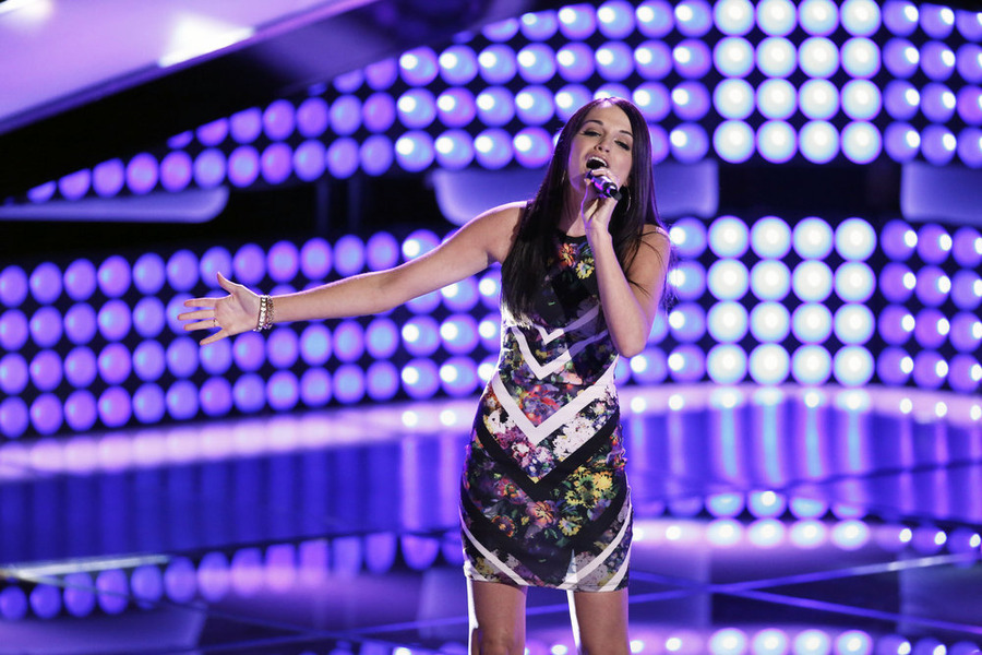 `The Voice`: Caitlin Caporale performs. (NBC photo by Tyler Golden)