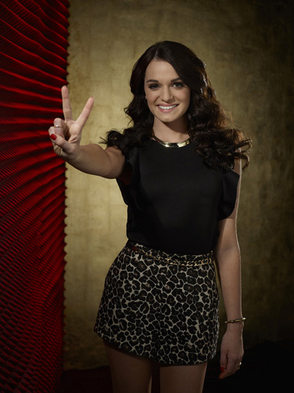 """The Voice"": Caitlin Caporale (NBC photo by Paul Drinkwater)"
