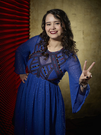 """The Voice"": Hannah Kirby (NBC photo by Paul Drinkwater)"