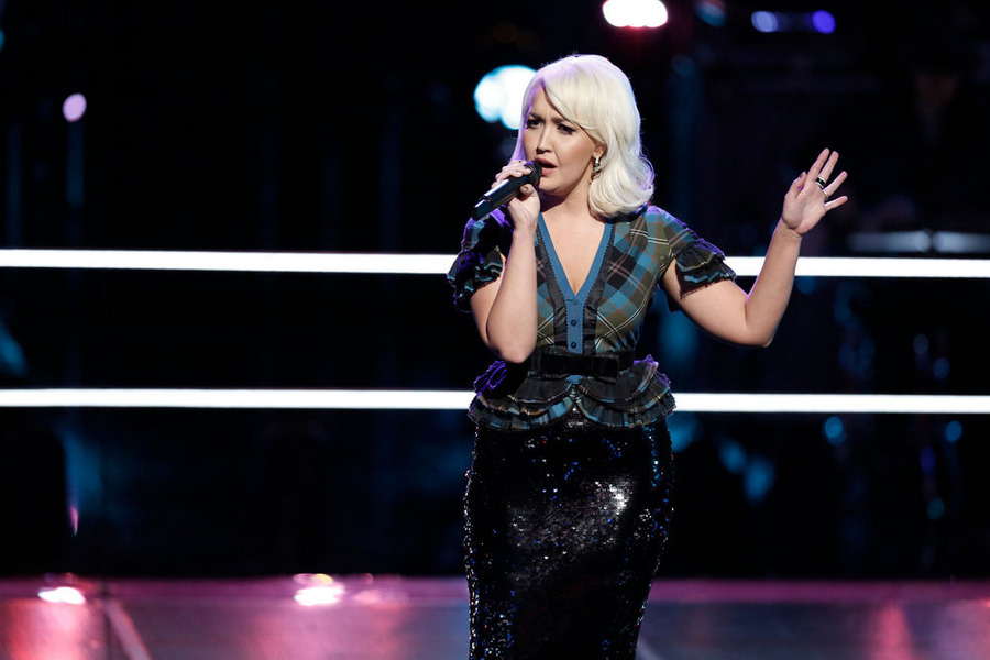 `The Voice`: Meghan Linsey performs. (NBC photo by Tyler Golden)