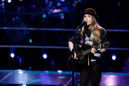 `The Voice`: Sawyer Fredericks performs. (NBC photo by Tyler Golden)