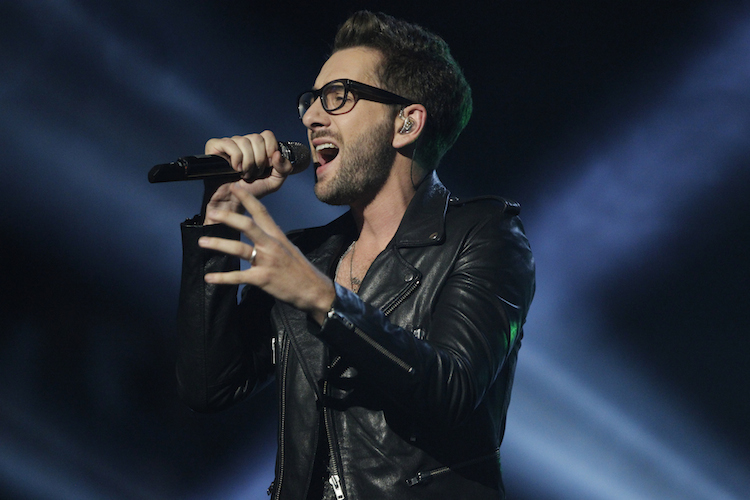 "Will Champlin performs on season six of NBC's ""The Voice."" (NBC photo by Trae Patton)"
