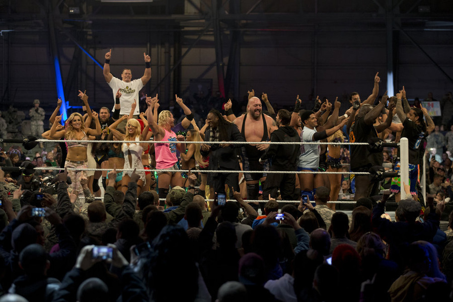 WWE `Tribute to the Troops` (WWE photo)