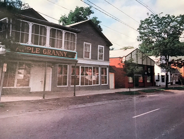 Apple Granny, and a portion of Center Street, in the 1980s. (Photo courtesy of the Historical Association of Lewiston)